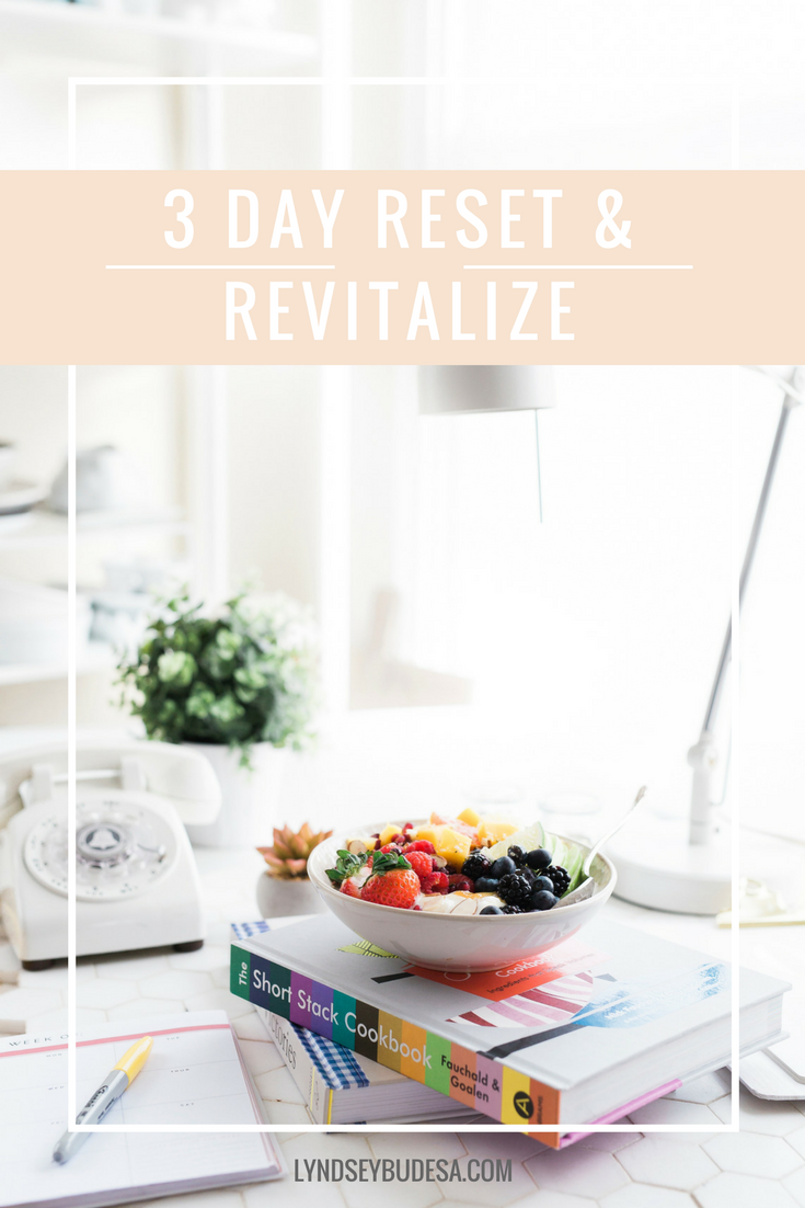 Free 3 Day Reset and Revitalize Detox Guide. A plant based, dairy-free, gluten-free meal plan and guide to help you detox your body so it feels revitalized in just 3 days.