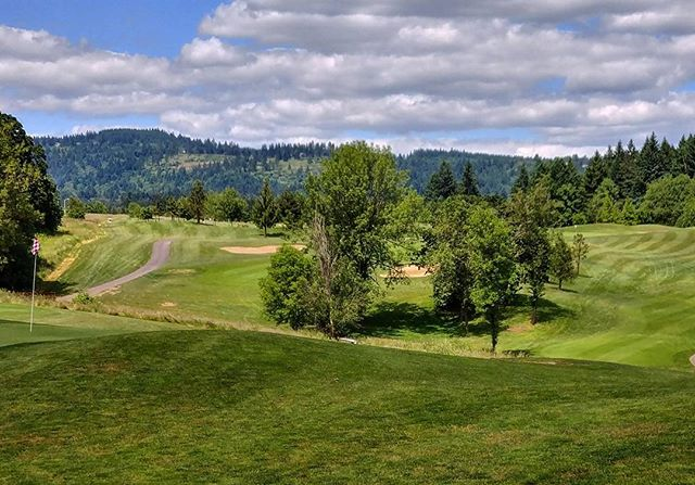 #beautiful day at #chehalemglenngolfcourse #golf #golfcourse. #newberg #oregon #oregongolf #pnw. #nature #sky #grass #trees #vista #lgg6