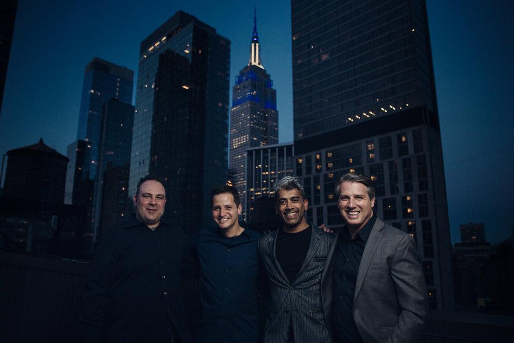 Photo by Tierney Farrell / Left to Right: Ed Rilli, Axel Ericson, Lez Rudge, Marcelo Gandola