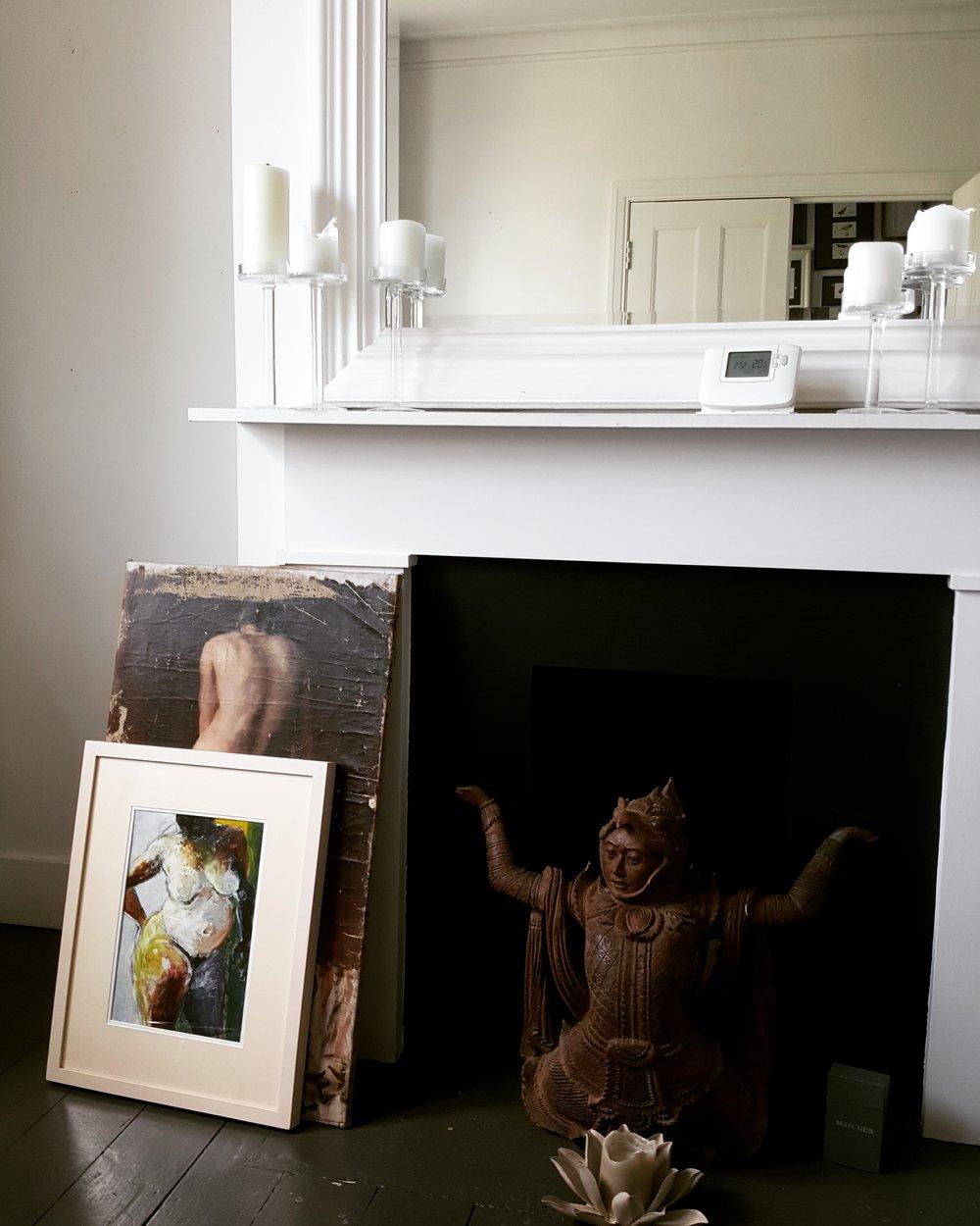 Fireplace, Buddha