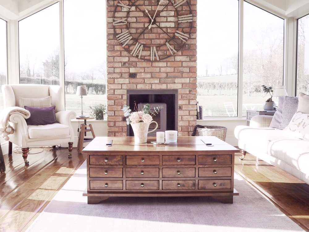 Emma's fireplace has me dreaming of using brickslips to add a bit of texture into our house