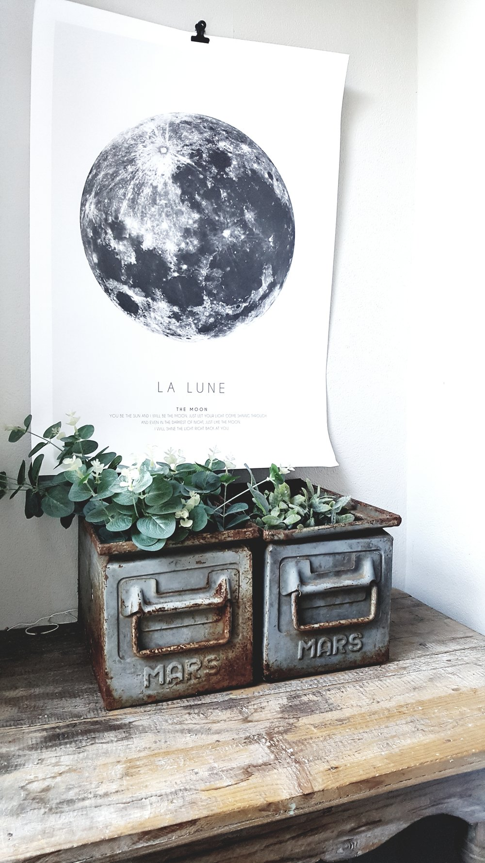 The La Lune print is a recent purchase from  Desenio