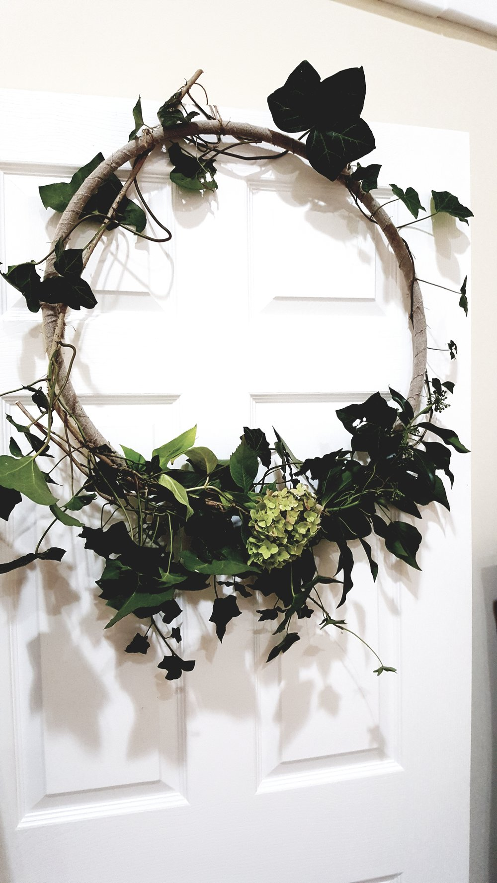 The humble hula hoop transformed by Beth into a gorgeous modern rustic wall hanging