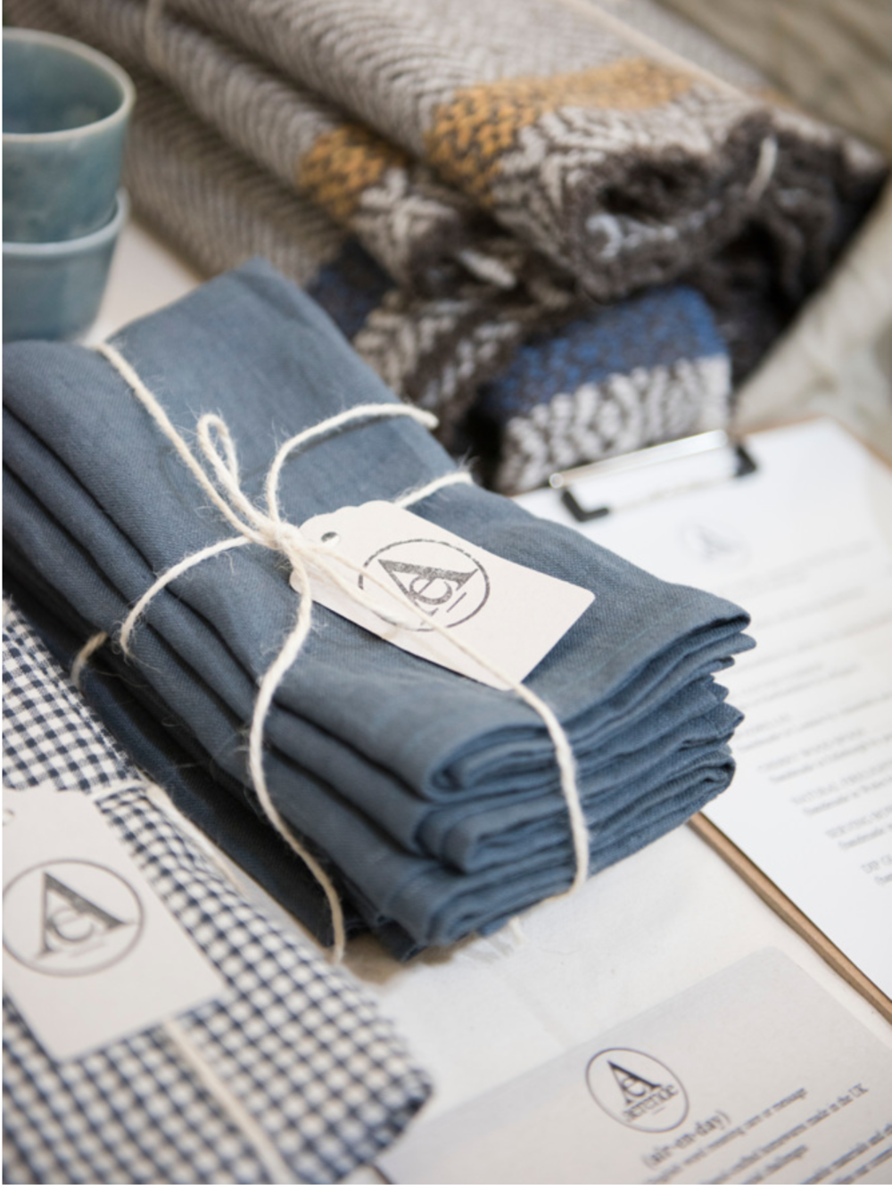 Beautiful linen napkins from  Aerende Store