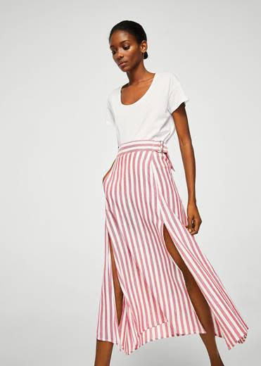Striped maxi skirt from  Mango