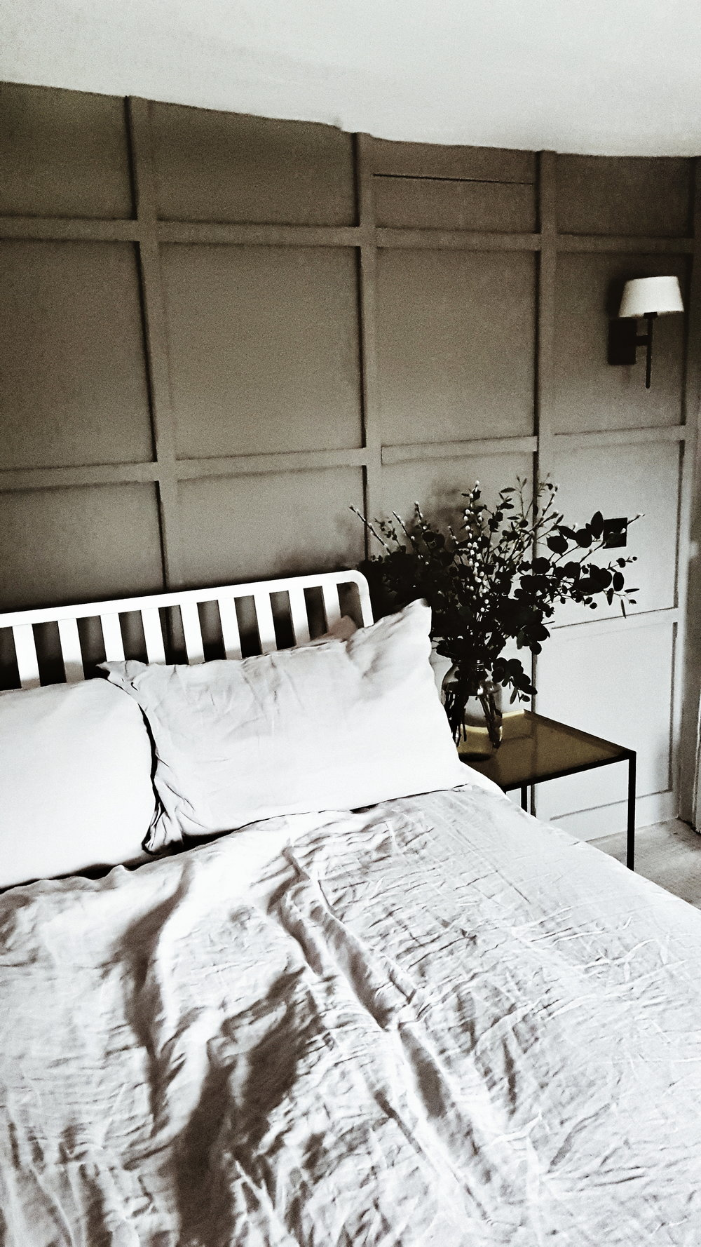 I loved the panelling that had been added to the second double bedroom and the smoky grey colour on the walls
