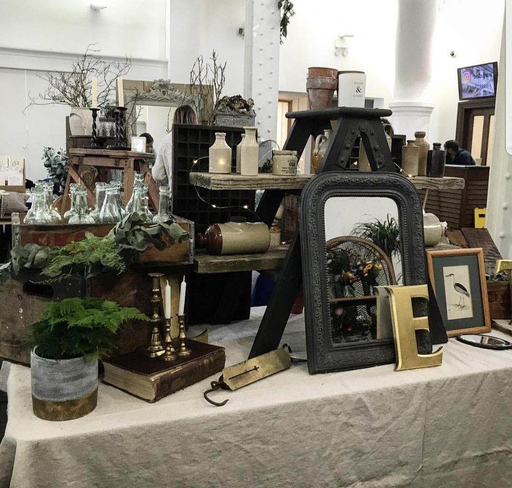 A beautiful display from the stall of  Vintage Curator Interiors