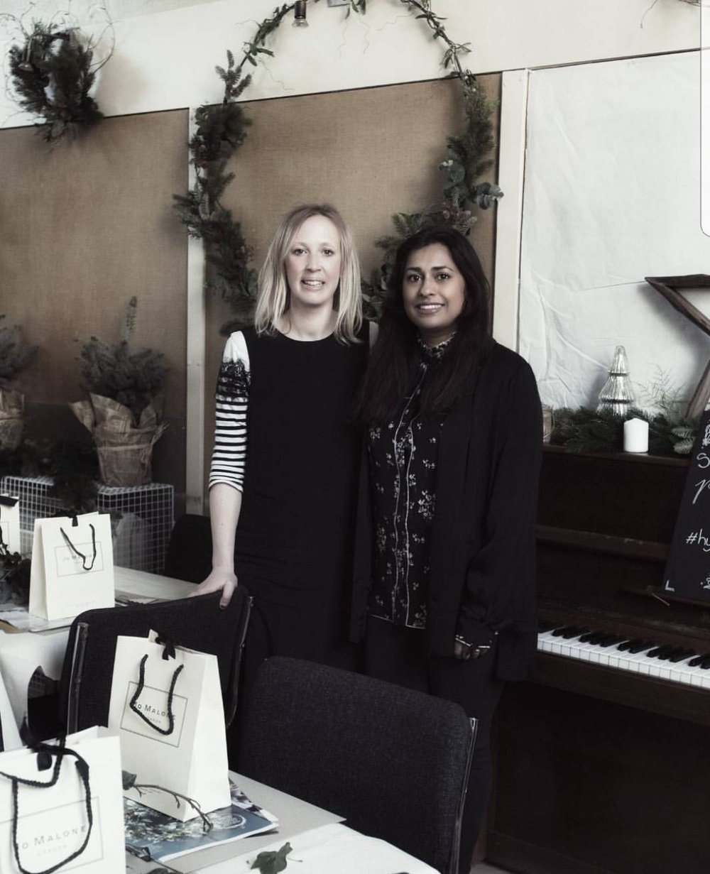 Reena and I at our London Hygge for All Seasons workshop last year