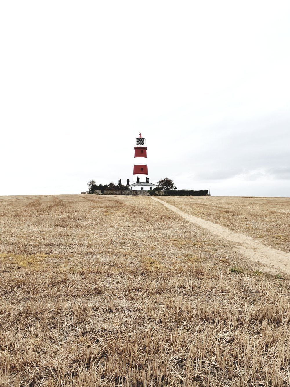 The lighthouse at Happisburgh which is just ten minutes drive from the house