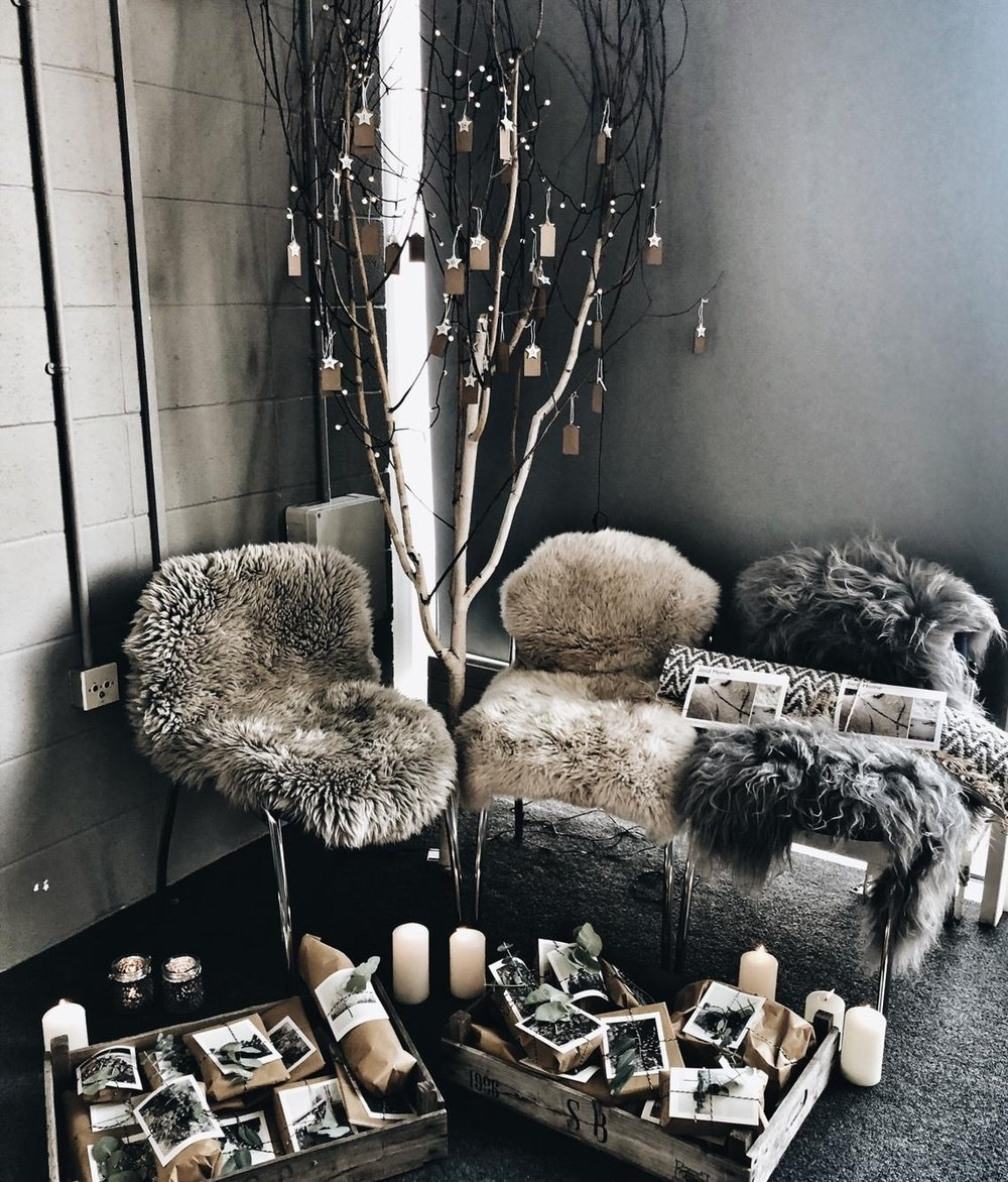 Our gifting advent tree allowed Scandi Santa to share some suprises with our guests from Jord Home, Malako Skincare, Sevin London, Thornback and Peel, Lovestruck Interiors, Kate and the Ink, Igigi General Store, and A Little Botanical