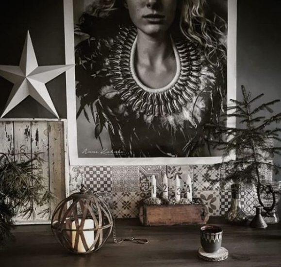 Rustic maximalism in the Finnish home of  @storm_ and _ clay