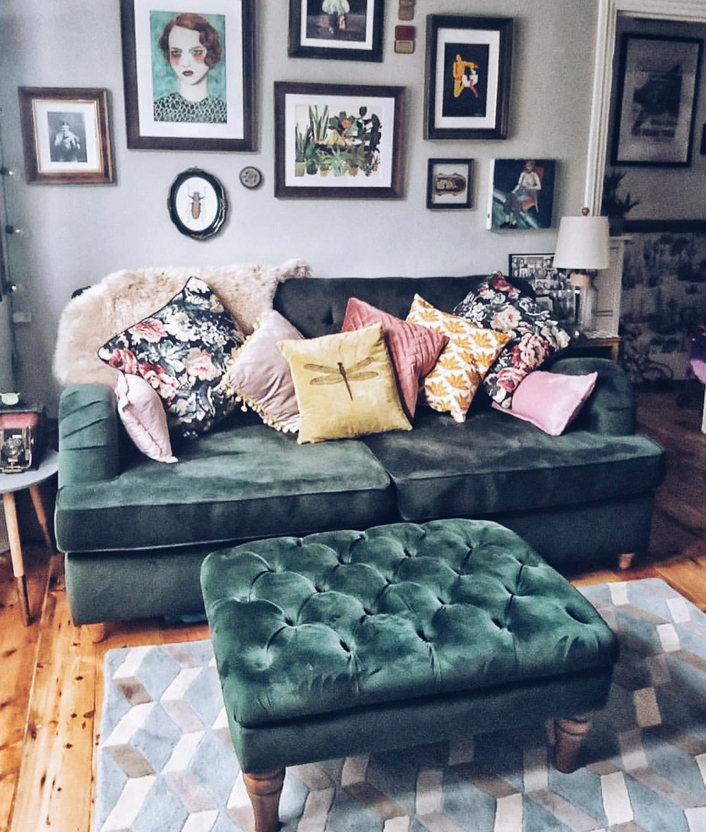 The arrival of this rather delicious green sofa has been an  Instagram  pleaser