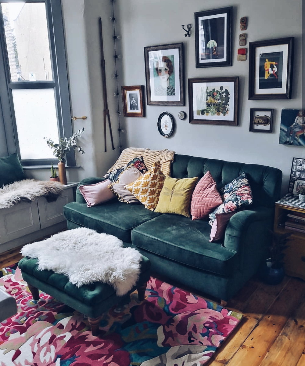 Victoria's  living room, currently the most popular room on her feed