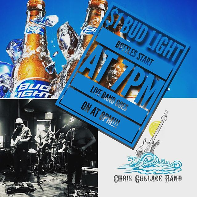 Come out tonight for $1 Bud Light Bottles and Live Music!!! #briellealehouse #chrisgullaceband @chrisgullaceband