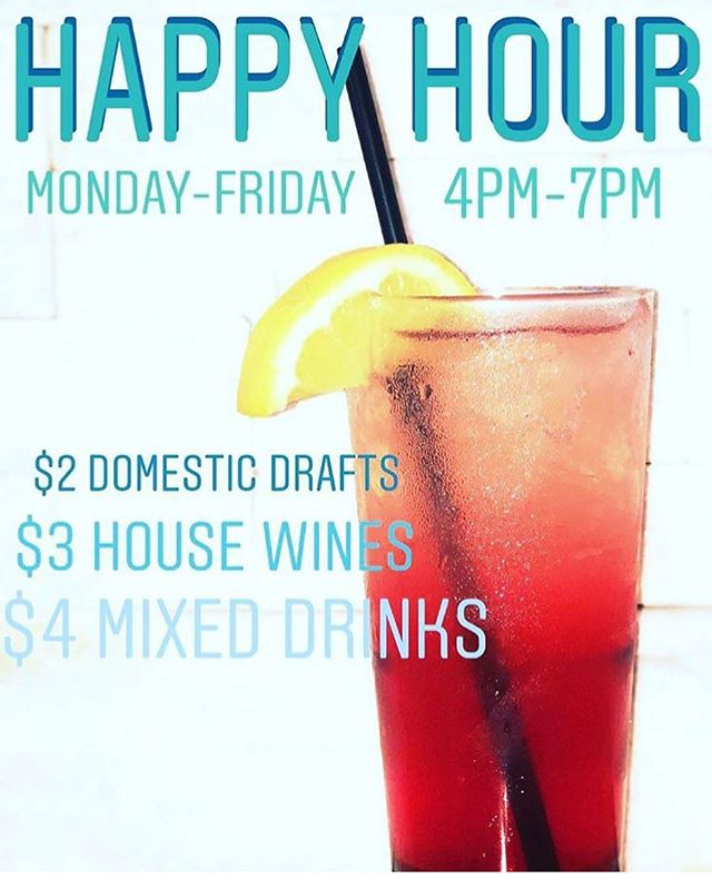 The happiest of hours at the ale House! Great specials running each and every day!