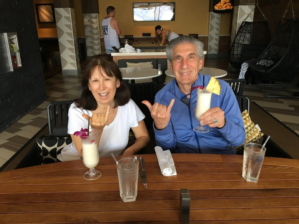 Hanging Loose in Maui with my wife Cecile (2016)