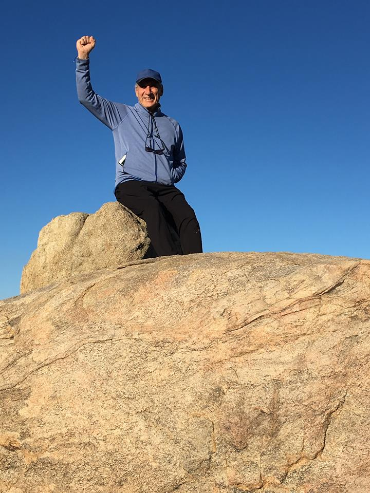 Dennis victory sign to of Granite Rock.jpg