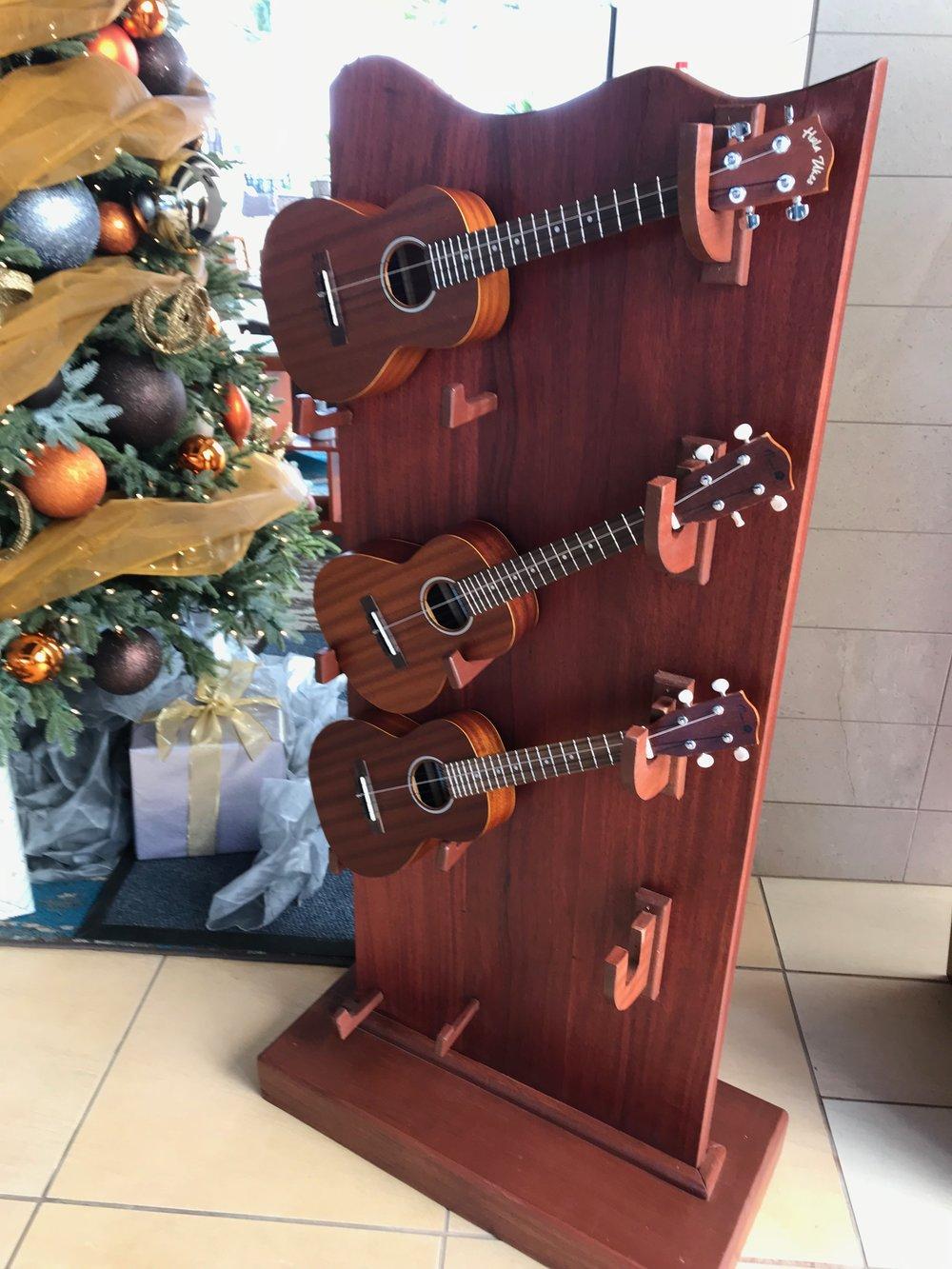 3 guitar exhibit next to Xmas tr .jpg*.jpg