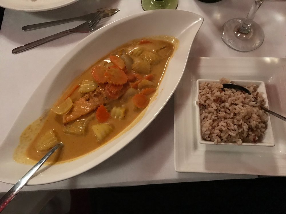 Yellow Curry w potatoes, carrots and brown rice and Salmon.jpg*.jpg