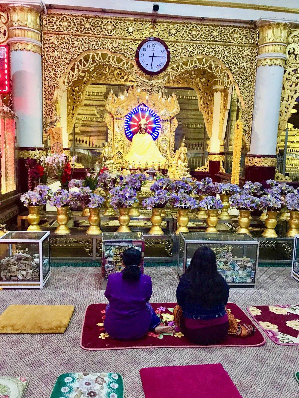 Meditating, praying, dana by 2 locals.jpg*.jpg