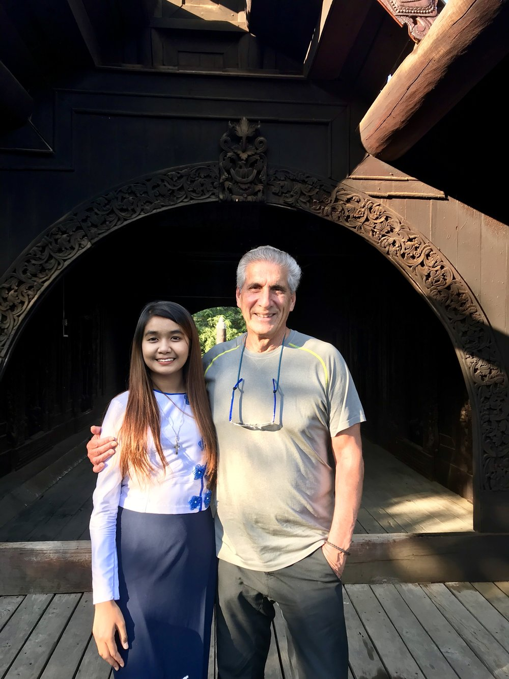 Michelle & Me in front of archway of wood pagoda.jpg*.jpg