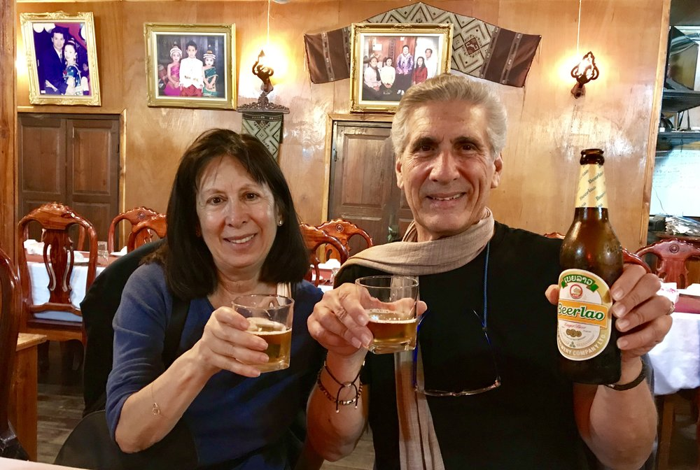 Cecile and Me toasting Laos beer.jpg