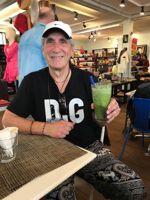 Dennis at Angkor Cafe cooling off w Lime mint shake.jpg*.jpg