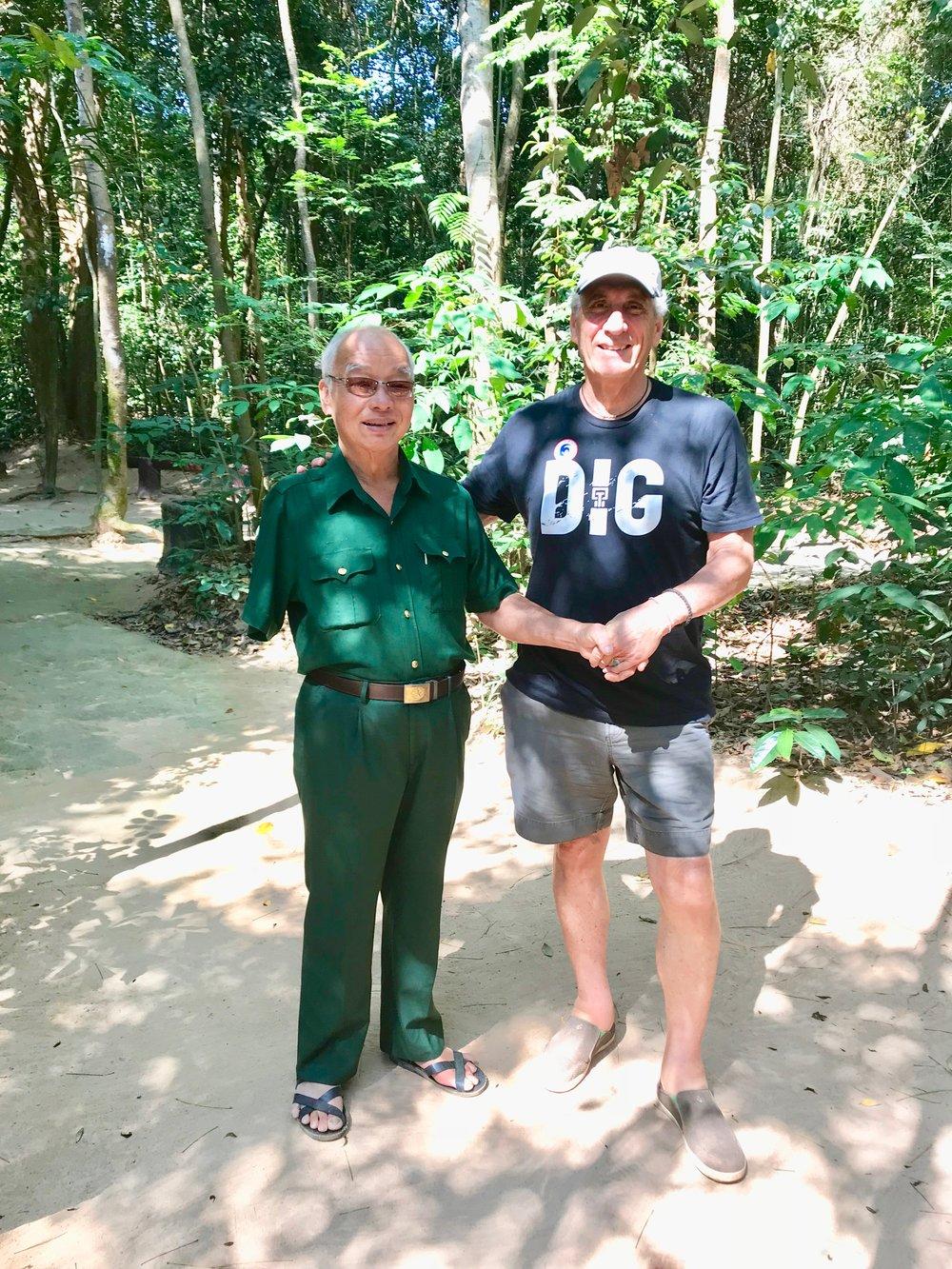 Photo w Viet Cong Vet shaking hands.jpg
