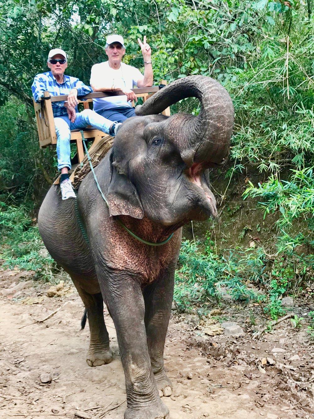 Ed & Me (w peace sign) on Elephant) Trunk up).jpg*.jpg