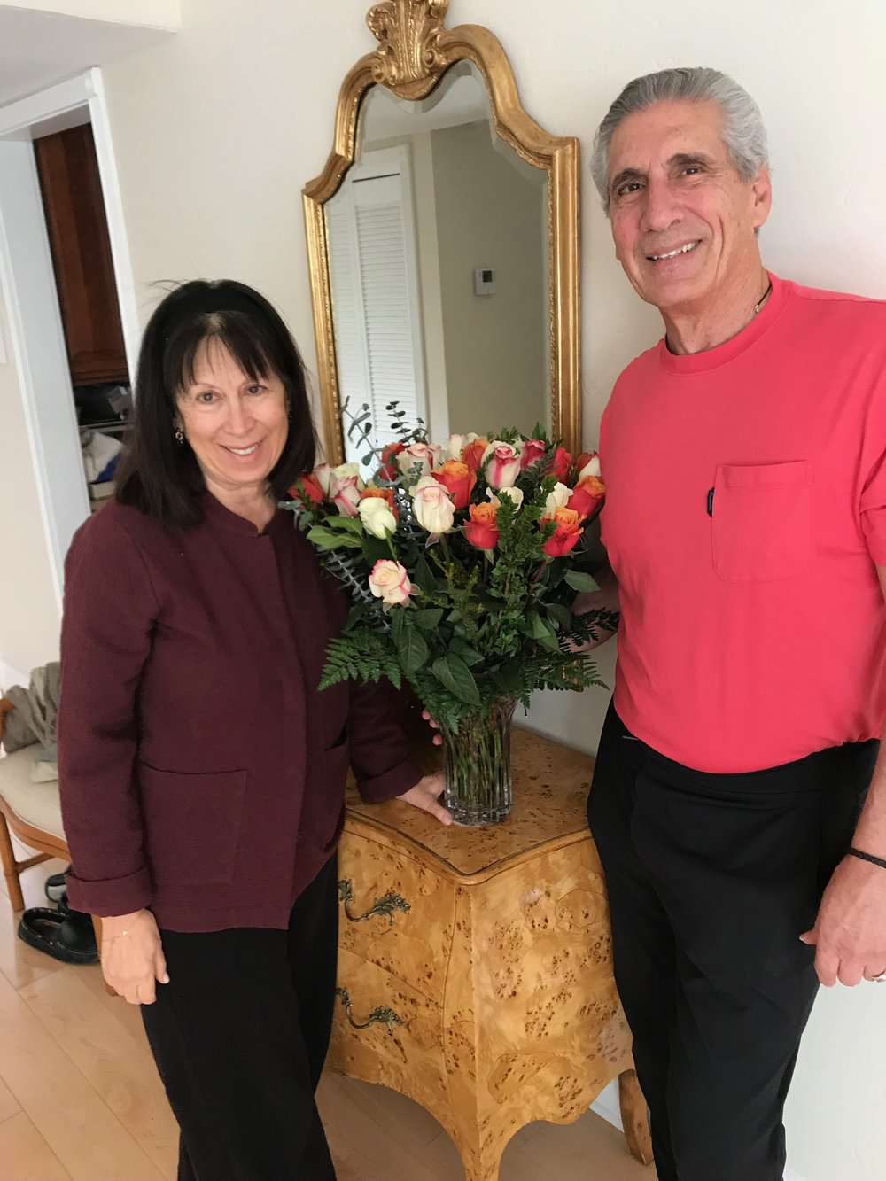 Ceil & me w 3 dozen roses.jpg*.jpg