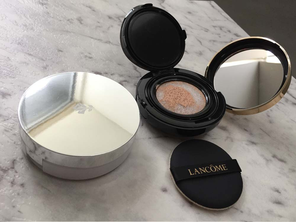 Lancôme Miracle Cushion in #02 Beige Rose, Lancôme Teint Idole Ultra Cushion