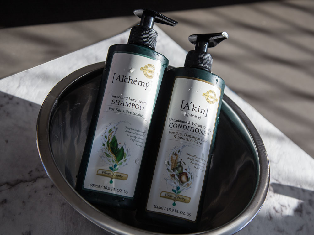 Al'chemy Shampoo and Conditioner - now Branded A'kin