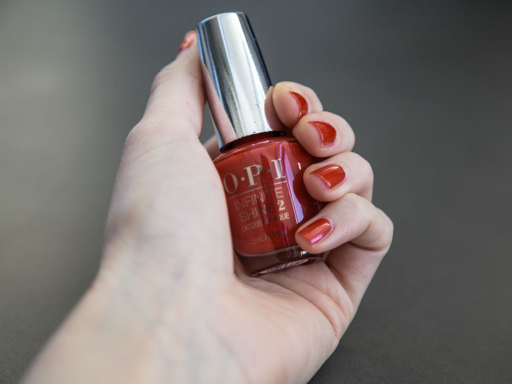OPI Infinite Shine 3 Step System, Step 2 in Unequivocally Red