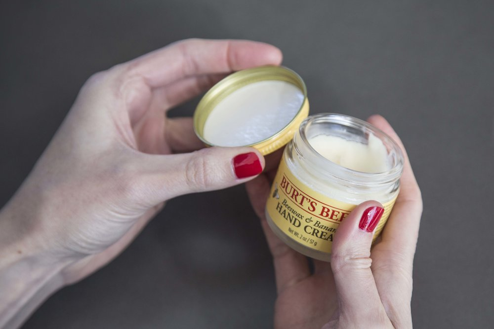 Taking Care of Your Nails When You Have a Nail Polish Obsession: Burt's Bees Beeswax & Banana Hand Cream