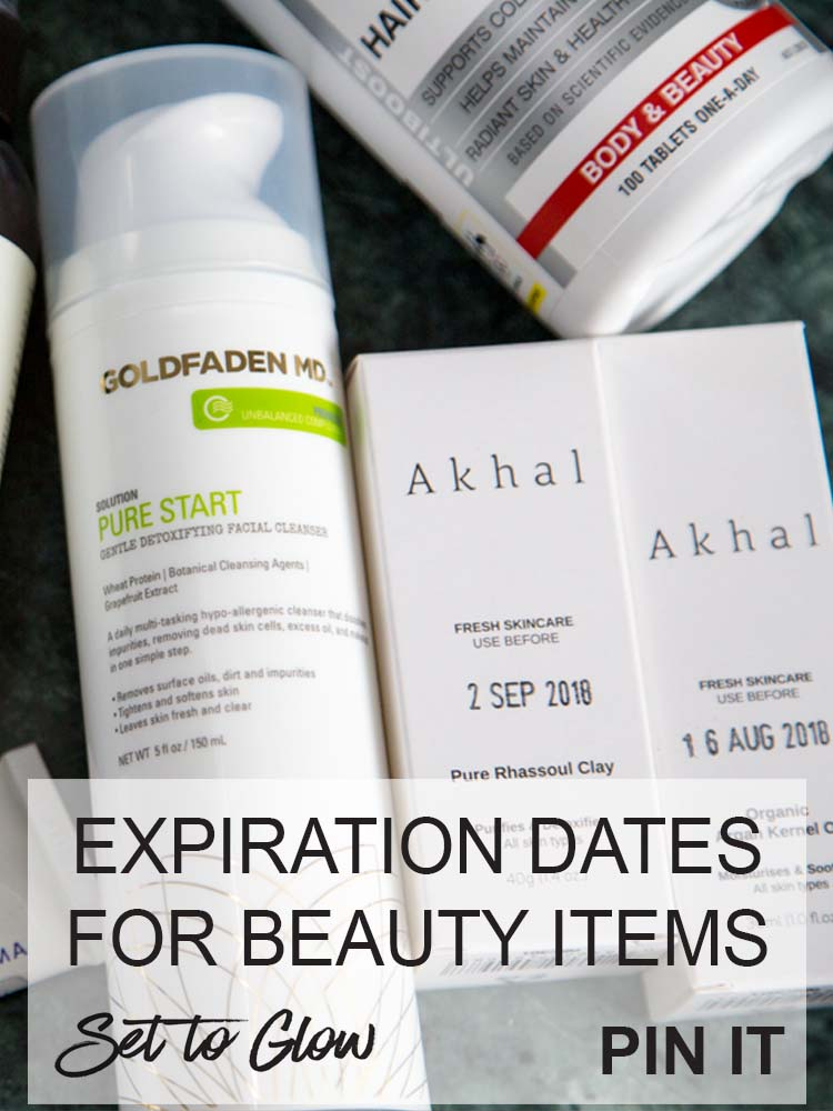 Skincare and Cosmetic Expiry Dates; Expiration Dates for Everyday Beauty Items