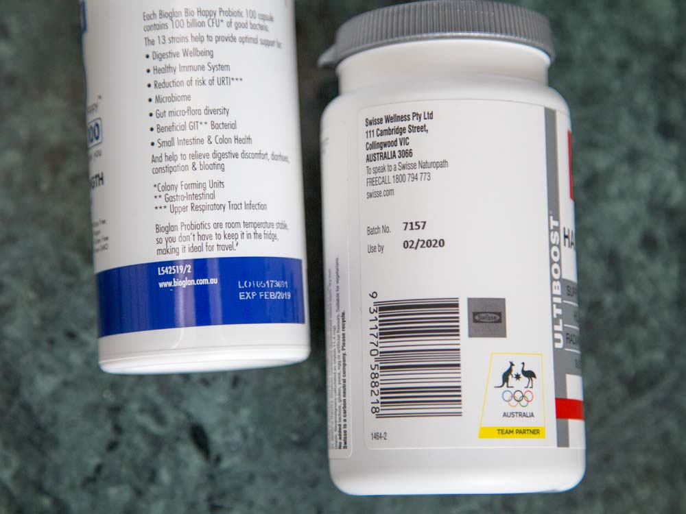 Skincare and Cosmetic Expiry Dates; Vitamin Lot Codes and Expiry Dates