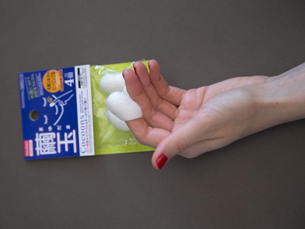 Daiso Natural Cocoon Peeling Silk Balls