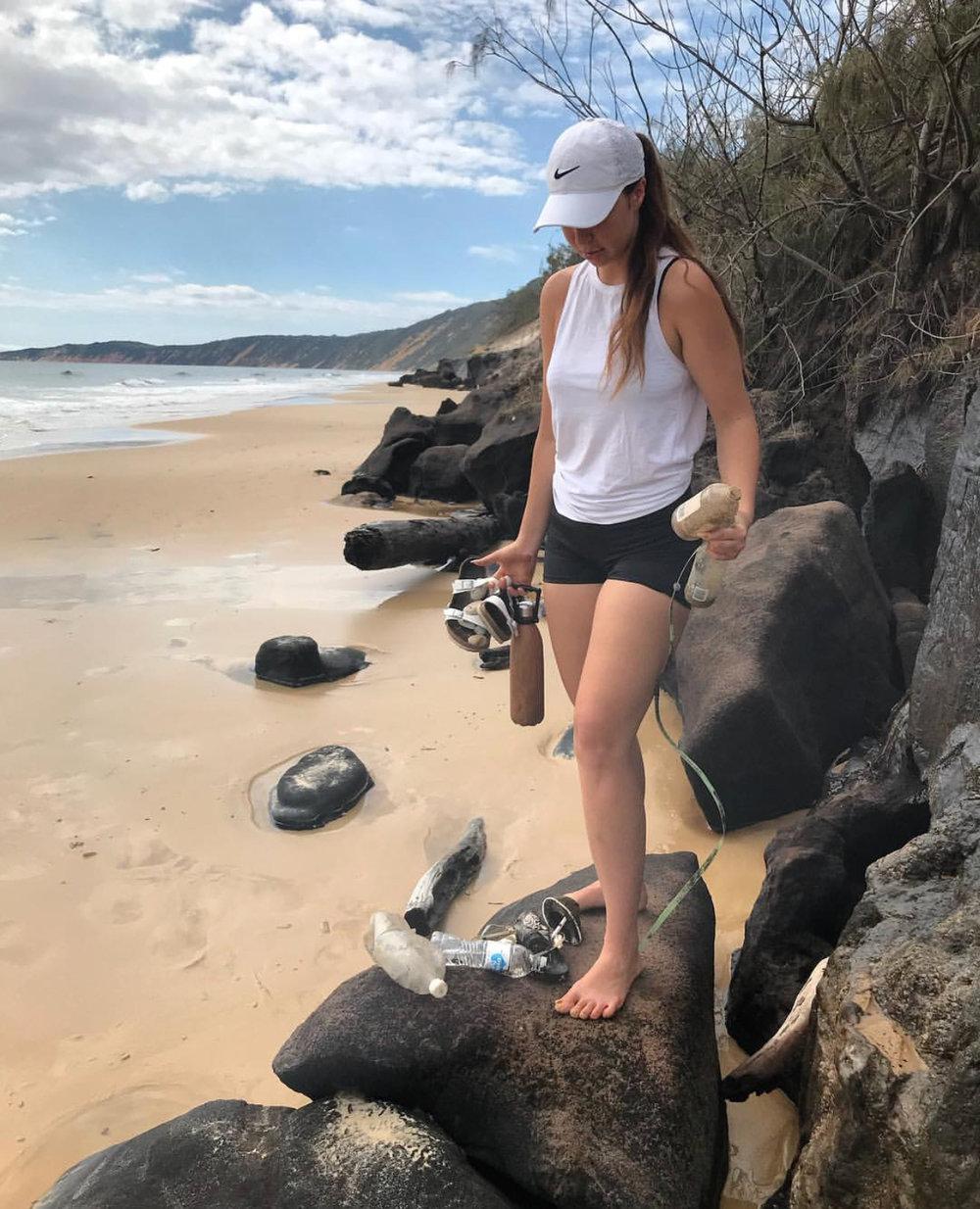 New Years Day beach clean up at Rainbow Beach, QLD.