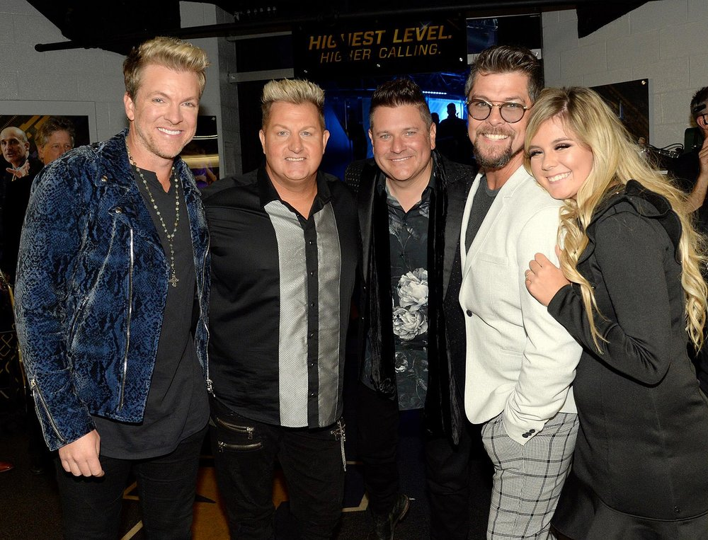 L-R: Joe Don Rooney, Gary LeVox, Jay DeMarcus, Jason Crabb, and Ashleigh Taylor (daughter of Jason Crabb) Photo by Rick Diamond