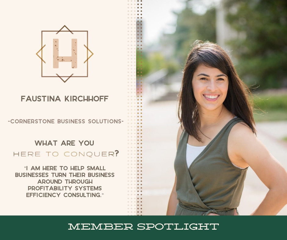 Faustina Kirchhoff - Owner of Cornerstone Business Solutions