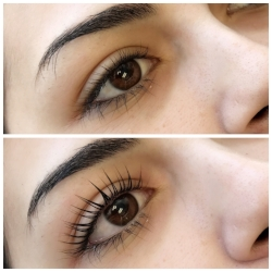 Keratin Lash Lift before and after