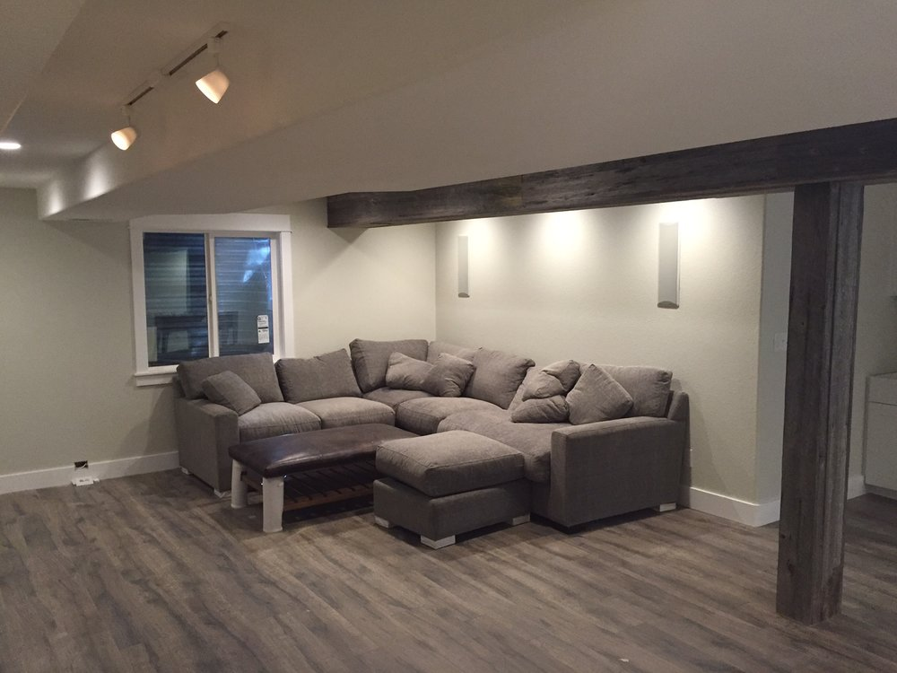 longmont reclaimed wood basement
