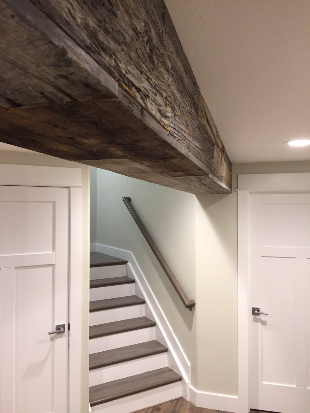 reclaimed wood basement idea