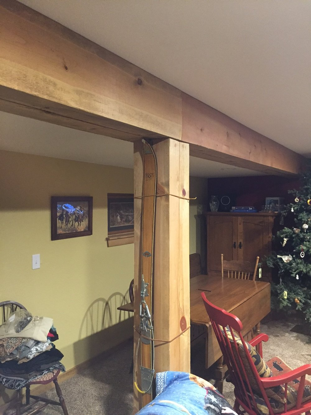 reclaimed wood beam