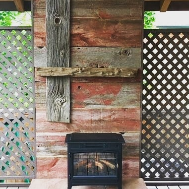 This DIY project was sent to us by a happy customer! We love seeing the barnwood in it's new forever home! ⠀ ⠀ #longmont #DIY #homeimprovement #fireplace #mantle #barnwood #rustic #boulder #colorado #Wisconsin #legacy #authenticbarnwood #mainstreetlongmont