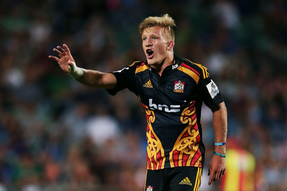Damien McKenzie playing for the Chiefs in 2017.  Photo:  Unknown.