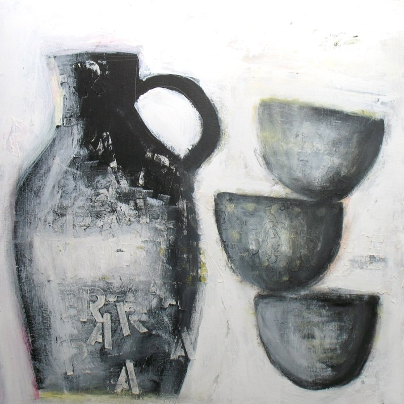 black jug with 3 bowls