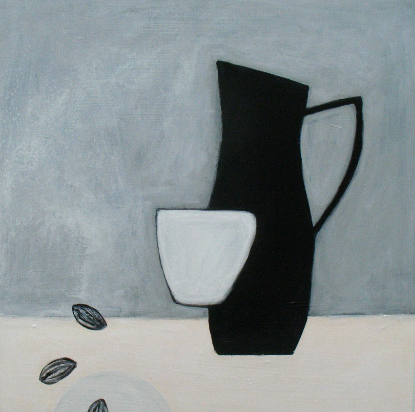 Still life with three almonds