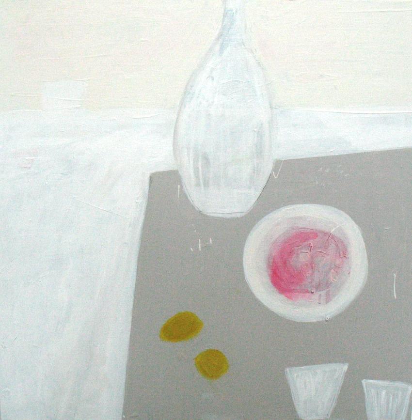 Borscht on grey table