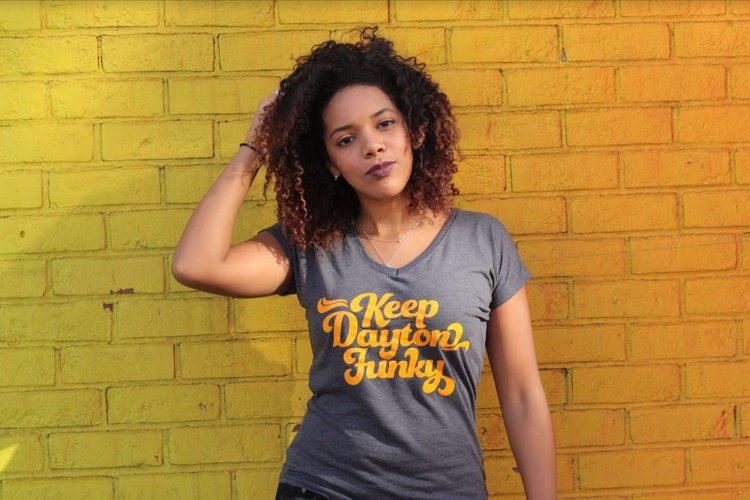 Keep Dayton Funky™ Tee (Women s V-neck)  56824d1e2924